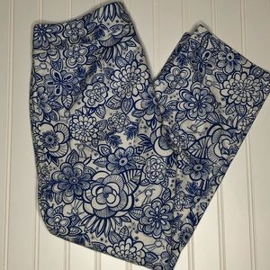 Lilly Pulitzer Palm Beach Fit floral capris size 0